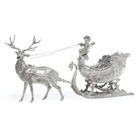 large sled and reindeer by neresheimer