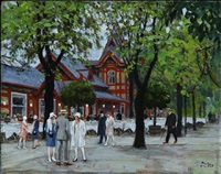 summer evening in tivoli, copenhagen by paul gustave fischer