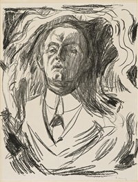 self-portrait with a cigar by edvard munch