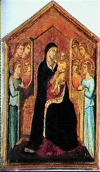 vierge a l'enfant et anges by pacino di bonaguida
