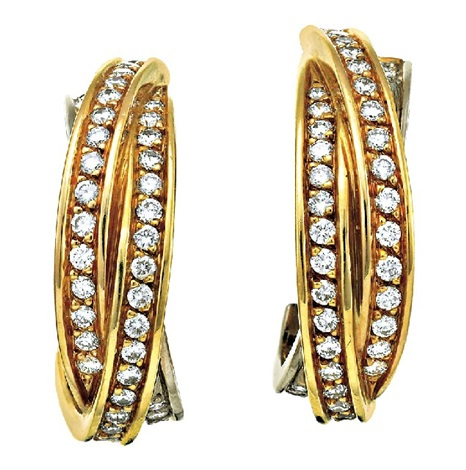 trinity earrings (pair) by cartier