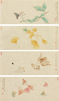 秋声 (4 works) by rao wei