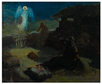 the annunciation to the shepherds by henry ossawa tanner