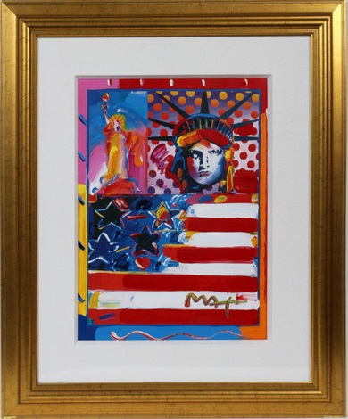 god bless america ii by peter max