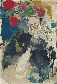 orange, yellow, black, blue by gillian ayres