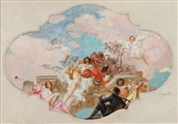 allégorie des arts, projet de décoration by henryk siemiradzki