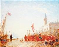 procession à venise by félix ziem