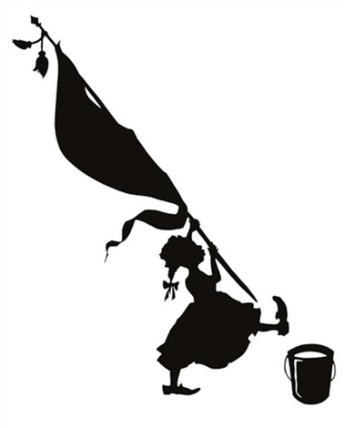 untitled girl with bucket in 2 parts by kara walker