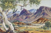 the valley, macdonnell ranges, northern territory by albert namatjira