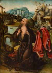 der heilige hieronymus büßend in der wildnis by joachim patinir