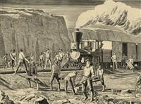 american steel industry: american railroads by rockwell kent