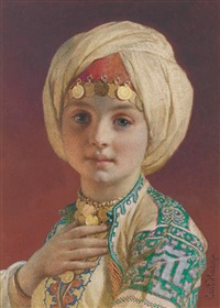 portrait of a child by carl haag