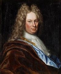 porträtt av herre i allongeperuk (self portrait?) by lucas van breda