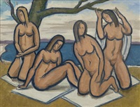 four bathers by arnold auerbach