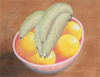 fruit in a bowl 2 by ithell colquhoun