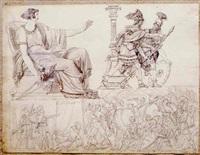 quatre scènes antiques by louis-charles-auguste couder