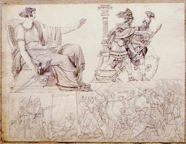 quatre scènes antiques by louis charles auguste couder