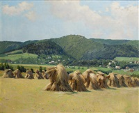 landschaft mit garben by oldrich hlavsa