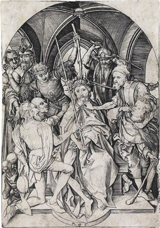 christ crowned with thorns by martin schongauer