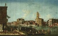 venezia, veduta del canal grande alla confluenza con il rio di cannaregio by francesco albotto