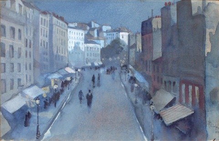 rue de paris by théophile alexandre steinlen