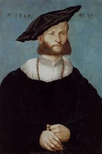 porträt eines 27 jährigen mannes by conrad (von creuznach) faber