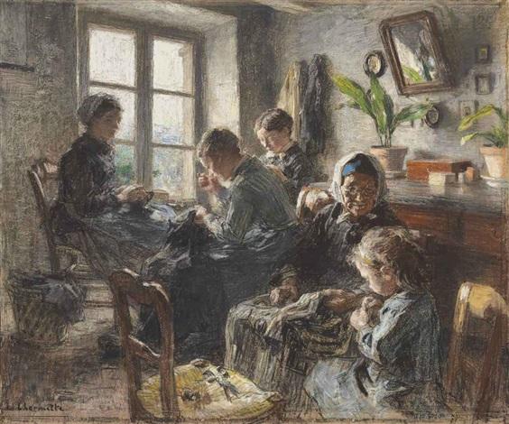 les couturières by léon augustin lhermitte