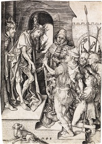 ecce homo (from passion) by martin schongauer