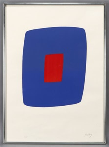 bluered composition by ellsworth kelly