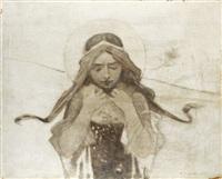 św. urszula rozsuwająca perły - rosę by piotr stachiewicz