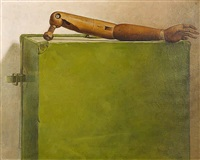 arm on suitcase by bryan westwood