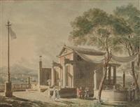 reconstruction de la villa de pline sur la côte de pausillipo by pierre françois léonard fontaine