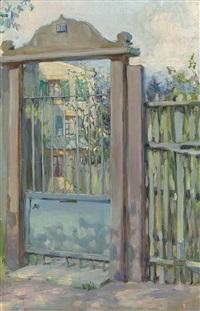 a gate in meudon by maria vasilevna jakunchikova