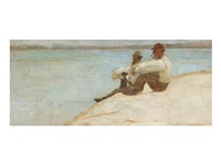 on the beach, port macquarie by tom roberts