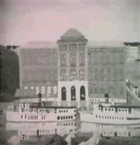 skargardsbatar framfor nationalmuseum -           stockholmsmotiv by bengt olov abrahamsson