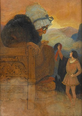 the giant's grandmother sat in the huge armchair (for grimm's fairy tales) by elenore plaisted abbott