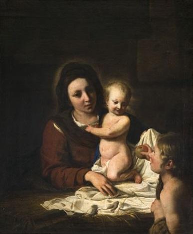 vierge à lenfant avec saint jean baptiste offrant une pomme by nicolas de hoey the younger