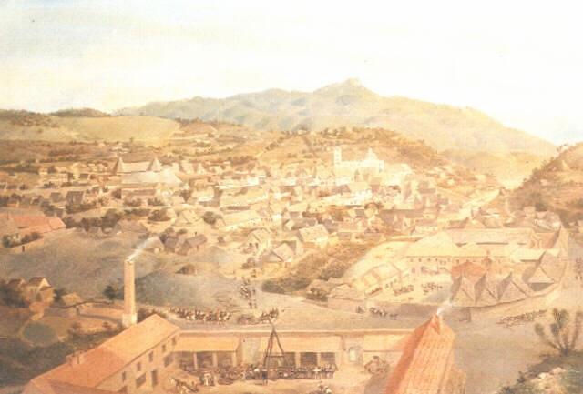 vista de la mina de la sierra de loreto real del monte by josé agustín arrieta