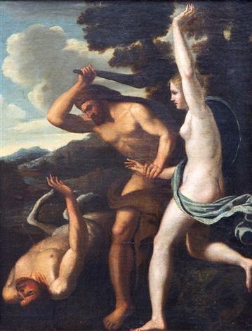 Hercules saving Deianira from centaur Nessus by French