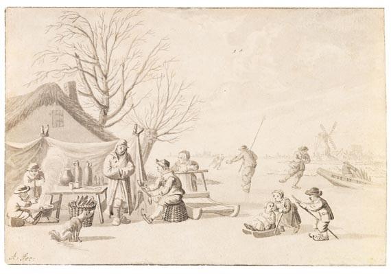 dörfliche genreszenen (2 works) by nicolaas aartman