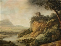 river landscape by flemish school-antwerp (17)