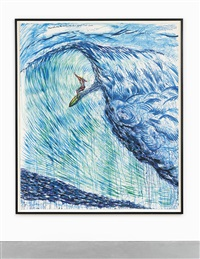 no title (mimicked in its...) by raymond pettibon