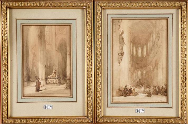intérieurs déglise animés 2 works by johannes bosboom
