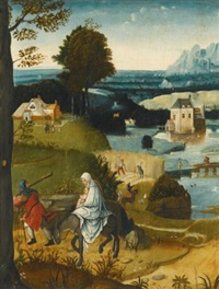 the flight into egypt by cornelis massys