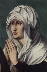 the mater dolorosa: a fragment by master of saint sang