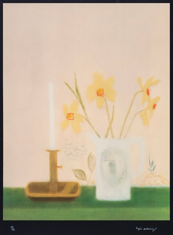 daffodils candlesticks by craigie aitchison