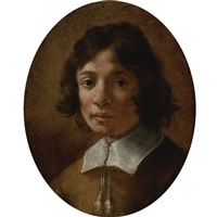 portrait of a boy in brown by giovanni mannozzi