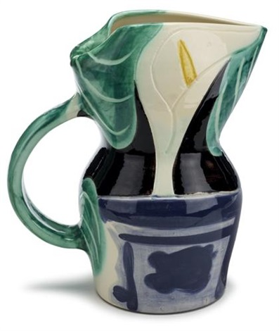pitcher with arums by pablo picasso