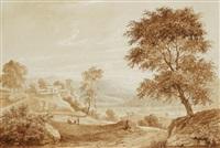paysage italien by pierre jean baptiste ernest de buchere de lepinois