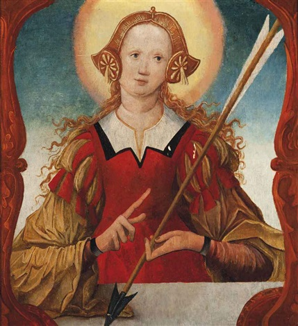 saint ursula by german school swabian 16